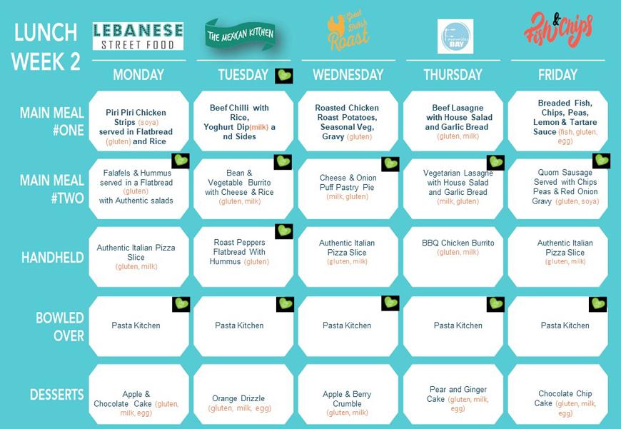 Cafe menu 2021 lunch week 2