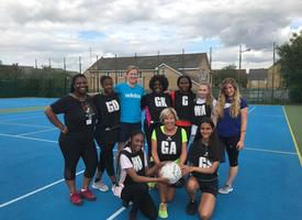 Sixth form and staff charity netball