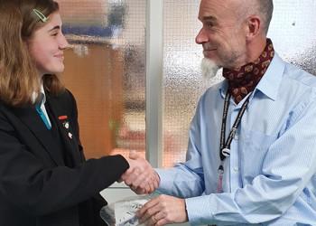 Young Enterprise Makes Movember Donation