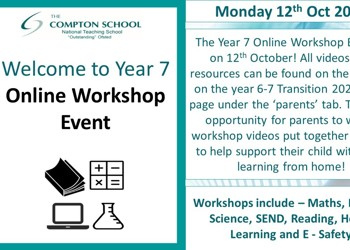 Welcome to Year 7 Online Workshop Event