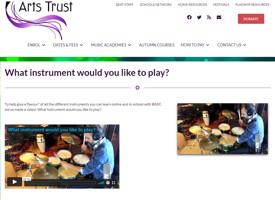 Barnet arts trust web